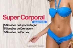Super Tratamento Corporal: 5 Sessões de Lipocavitação + 5 Carbox + 5 Drenagem