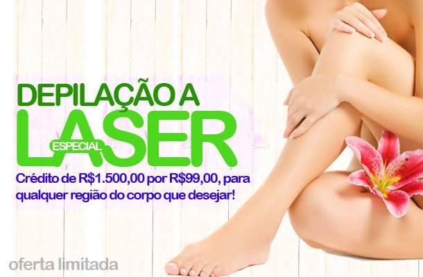Lançamento: Crédito de R$1.500,00 por R$99,00 para Depilação a Laser, para qualquer região do corpo que desejar!