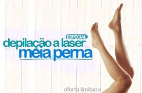 Lançamento: 3 Sessões de Depilação a Laser para Meia-Perna por apenas R$69,00