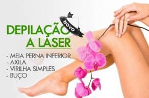 Imperdível: 1 Sessão de Depilação a Laser para Meia Perna inferior + Axila + Virilha Simples + Buço