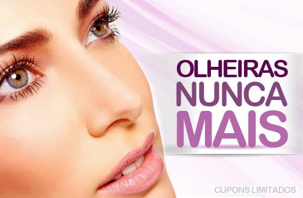 Olheiras Nunca Mais!  Tratamento a Laser para Olheiras + Máscara Clareadora por apenas R$ 49,90