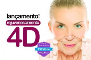Lançamento! Rejuvenescimento 4D: 1 sessão de Laser Fracionado CO2 Facial + 1 Fototerapia com Led + 1 Radiofrequência