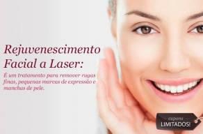 Novidade! Rejuvenescimento Facial a Laser + Avaliação com Dermaview + Limpeza de Pele com Extração + Radiofrequência Hooke + Peeling de Diamante