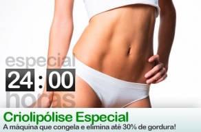 Especial 24 Horas: Criolipólise + Hooke em 3 Vezes Sem Juros. Conheça a máquina que congela e elimina até 30% de gordura localizada.