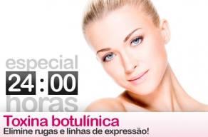 Especial 24 Horas: Aplicação de 10ui de Toxina Botulínica na testa, região dos olhos e glabela em 3 Vezes sem Juros