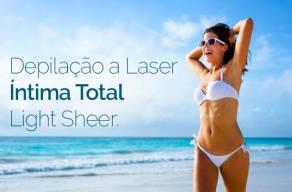 8 Sessões Depilação a Laser Íntima Total Light Sheer em 3 Vezes Sem Juros