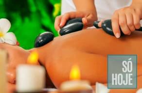 Relaxe: 3 Sessões de Massagem com Pedras Quentes em 3 vezes