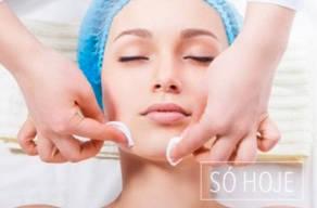 Pele Saudável: 1 Sessão de Limpeza de Pele com Extração + Vapor de Ozônio + Alta Frequência + Máscara Calmante